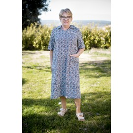ROBE MEDICALISEE MANCHES COURTES