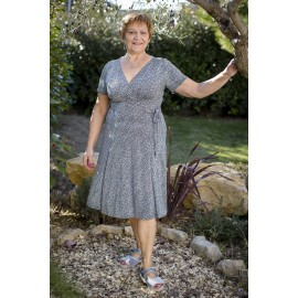 RENNE GRISE ROBE CROISEE FLUIDE