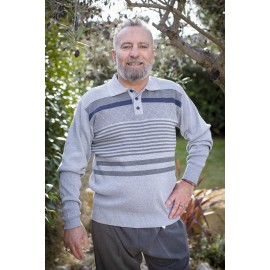 PATRICE PULL COL MONTANT ZIPPE
