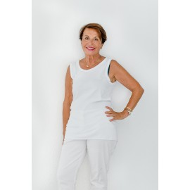 Lot de 3 tricots de corps sans manches Blanc