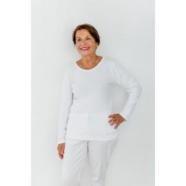 Lot de 3 tricots de corps manches longues Blanc