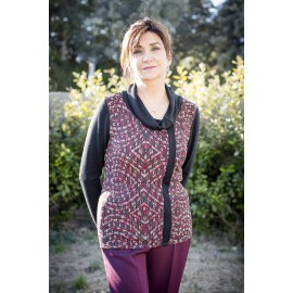 PULL COL ROULE MANCHES LONGUES IMPRIME
