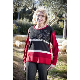 PULL CHAUD COL ROND ROUGE