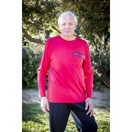 TEE SHIRT MANCHES LONGUES ROUGE 100% COTON